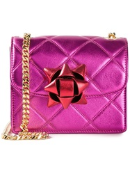 Marc Jacobs Mini 'Metallic Party Bow Trouble' Crossbody Bag Pink And Purple