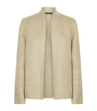 Eileen Fisher Double Face Curved Jacket Female Beige