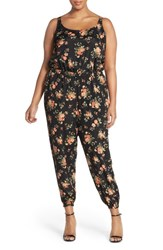 Plus Size Women's Bb Dakota 'Nicolau' Floral Print Blouson Jumpsuit Multi