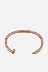Giles And Brother Classic Skinny Railroad Spike Cuff Rose Gold Finish