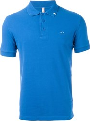Sun 68 Logo Polo Shirt Blue