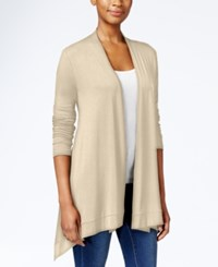 Jm Collection Button Back Cardigan Only At Macy's Stone