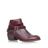 Hudson Horrigan Low Block Heel Ankle Boots Red
