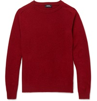 A.P.C. Wool And Cashmere Blend Sweater Red