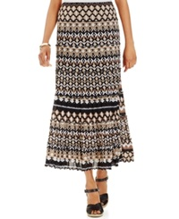 Jm Collection Petite Tiered Mesh Maxi Skirt