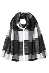Burberry Shoes And Accessories Printed Cashmere Scarf With Silk Black
