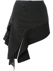 Anthony Vaccarello Asymmetric Skirt Black