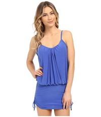 Magicsuit Solid Shelly Underwire W Removable Modesty Pad Tankini Top Electric Blue Women's Swimwear