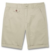 Oliver Spencer Cotton Chino Shorts Neutrals