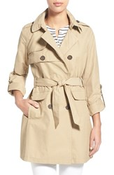 Women's Vince Camuto Roll Sleeve Double Breasted Trench Coat