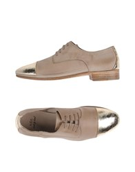 N.D.C. Made By Hand Footwear Lace Up Shoes Women Beige