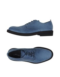 Bruno Bordese Footwear Lace Up Shoes Men Slate Blue