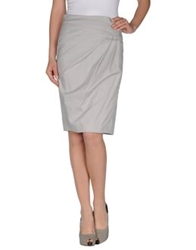 Laurel Knee Length Skirts Light Grey