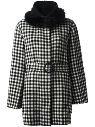 Tsumori Chisato Faux Fur Trim Coat Black