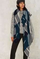 Westminster Blanket Scarf Blue