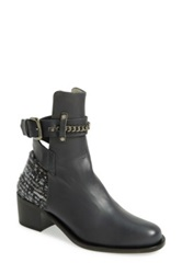 Plomo 'Bernadette' Leather Bootie Women Gray