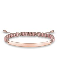 Thomas Sabo Rose Macrame Love Bridge Bracelet Pink