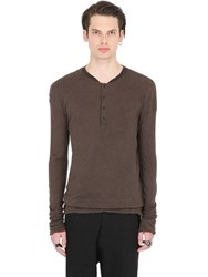 Isabel Benenato Double Jersey Henley T Shirt