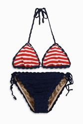 Anna Kosturova Women S Sailor Striped Bikini Boutique1 Multi