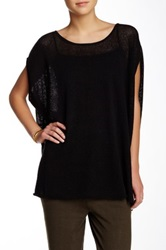Planet Honeycomb Linen Blend Tee Black