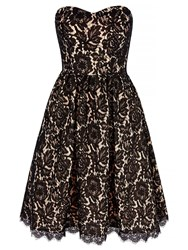 Yumi Prom Dress With Lace Black