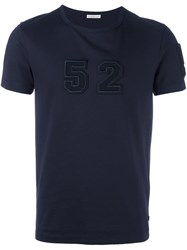 Moncler Number Patch T Shirt Blue