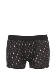 Dolce And Gabbana Polka Dots Printed Cotton Jersey Boxer