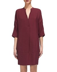 Whistles Lulu Shirt Dress Burgundy