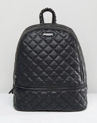 Aldo Quilted Backpack In Black Black