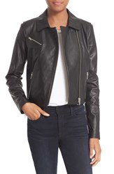 Elizabeth And James Women's Leather Moto Jacket