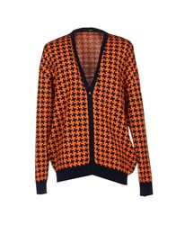 Abitu D'italy Knitwear Cardigans Men Orange