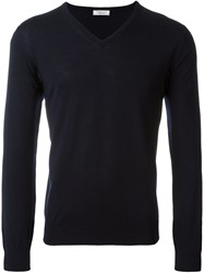 Fashion Clinic V Neck Sweater Blue