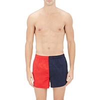 Sleepy Jones Colorblocked Boxers Red