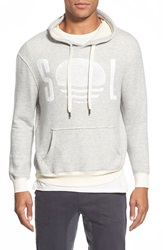 Sol Angeles 'Roma Sol Horizon' Graphic French Terry Hoodie Heather