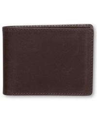 Tasso Elba Carson Double Bifold Wallet Brown