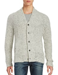 Black Brown Button Front Lambswool Cardigan Light Grey Donegal