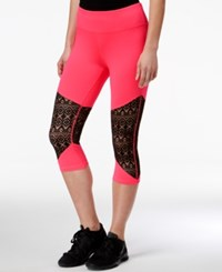 Material Girl Active Juniors' Lace Inset Cropped Leggings Only At Macy's Flashmode