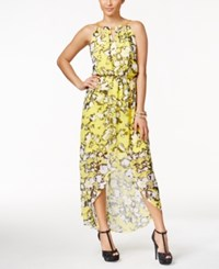 Thalia Sodi Printed High Low Maxi Dress Only At Macy's Sunray Yellow
