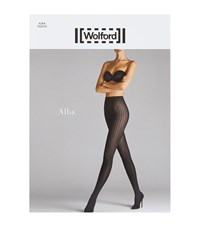 Wolford Alba Patterned Tights Female Black