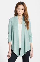 Eileen Fisher Linen Blend Angle Front Cardigan Regular And Petite Online Only Dewberry