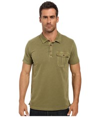Lucky Brand Short Sleeve Polo Capulet Olive Men's Clothing Green