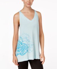 Gaiam Women's Harper Tank Top Crystal Blue