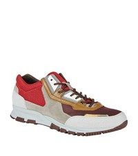 Lanvin Mesh Panel Running Sneakers Male Red