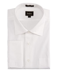Neiman Marcus Non Iron French Cuff Pinpoint Shirt 15X32