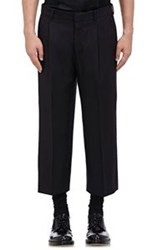 Alexander Mcqueen Wide Leg Crop Trousers Black