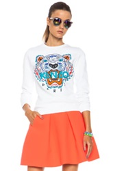 Kenzo Embroidered Tiger Sweatshirt In White