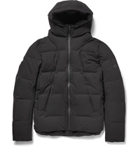 Descente Shuttle Hooded Shell Mizusawa Down Jacket Black