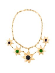 Balenciaga Vintage Star Pendant Necklace Metallic