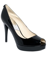 Michael Kors York Platform Pumps Women's Shoes Black Patent
