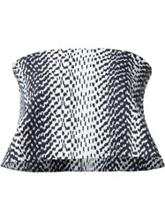 Elizabeth And James Patterned Strapless Top White